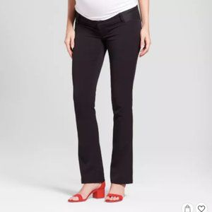 Maternity Inset Panel Bootcut Trousers - 10